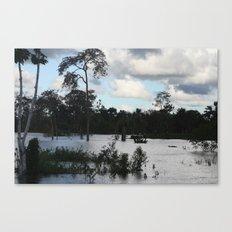 Blue Mix of Beauty Canvas Print