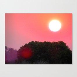 Zimbabwean / Zambian Sunset  Canvas Print