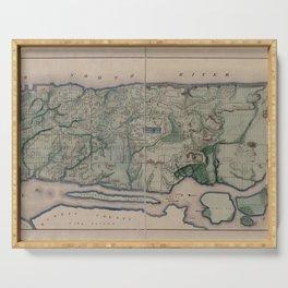 Vintage Map Print - New York City, 1865 Serving Tray
