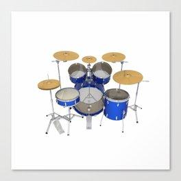 Blue Drum Kit Canvas Print