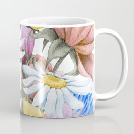Summer Floral Watercolour Bouquet Coffee Mug