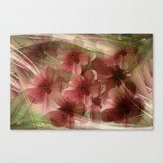 Flower Garden Abstract Canvas Print