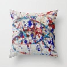 Lego: Jackson Pollock 2 Throw Pillow