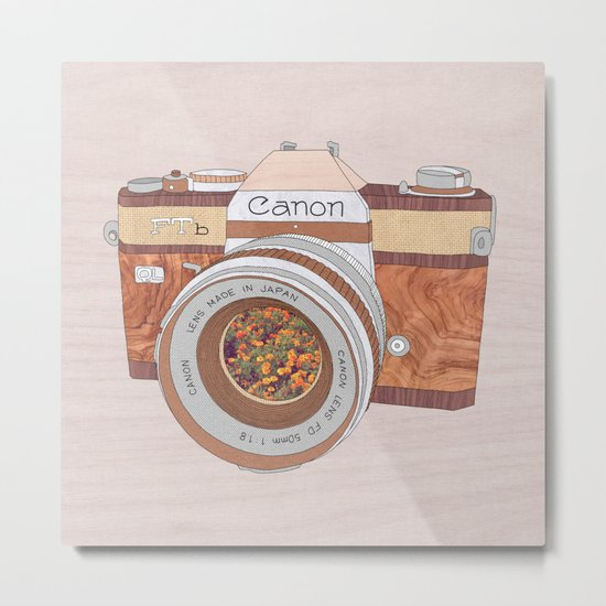 WOOD CAN0N Metal Print