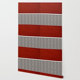 Red And Grey And White Stripe Graphic Offset Pattern Wallpaper