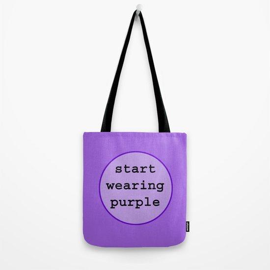 Start Wearing Purple Tote Bag