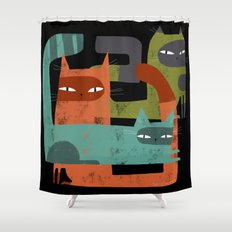 WHISKER BRACKETS Shower Curtain