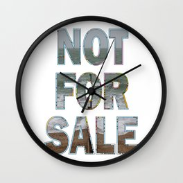 NOT FOR SALE A Wall Clock