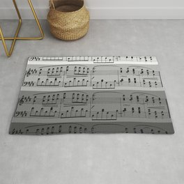 MUSIC IN GRADIENTS OF GREY - OMBRES OF GRAY - MUSICALS MONOCHROME #septcho19 Rug