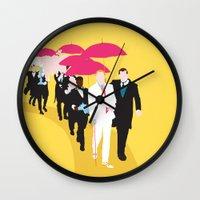 gatsby Wall Clocks featuring Gatsby by Fräulein Fisher