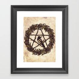 Botanical Pentacle: Wild Witch Framed Art Print