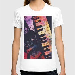 piano and guitar art #piano #guitar #music T-shirt
