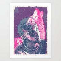 jenna kutcher Art Prints featuring Jenna Stempel by Skinjobs
