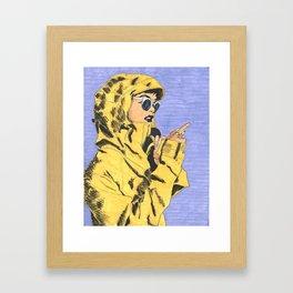 Yellow Jacket Framed Art Print