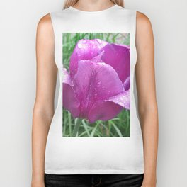 440 - Rainy day Tulip Biker Tank