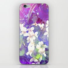 VIOLETS FLOWERS ON A DREAM iPhone & iPod Skin