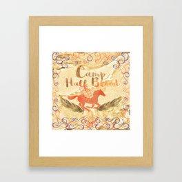 camp half blood in gold v2 Framed Art Print