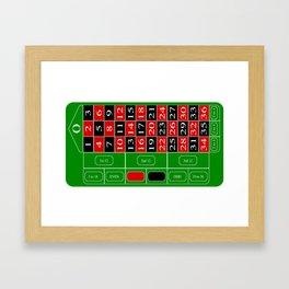 Roulette Table Framed Art Print