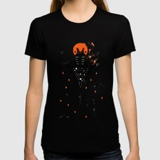 Manta Womens Fitted Tee SMALL Black