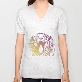 bicolor tiger Unisex V-Neck