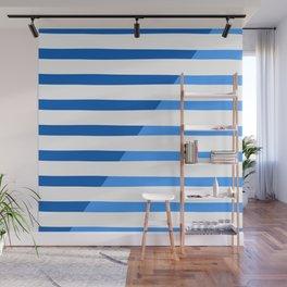 Beach Stripes Blue Wall Mural