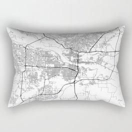 Minimal City Maps - Map Of Little Rock, Arkansas. Rectangular Pillow