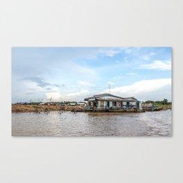 Chong Khneas Floating Village XVI, Siem Reap, Cambodia Canvas Print