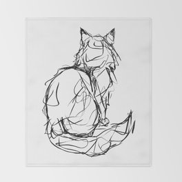 Kitty Gesture Throw Blanket