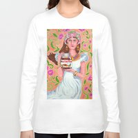 nutella Long Sleeve T-shirts featuring An Ode To Nutella by Anna Gogoleva