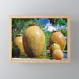 Spanish Urn Fountain Framed Mini Art Print