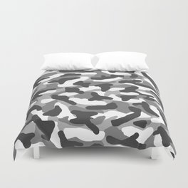 Grey Gray Camo Camouflage Duvet Cover