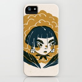 Carnation Head Illustration | Alex Gold Studios iPhone Case