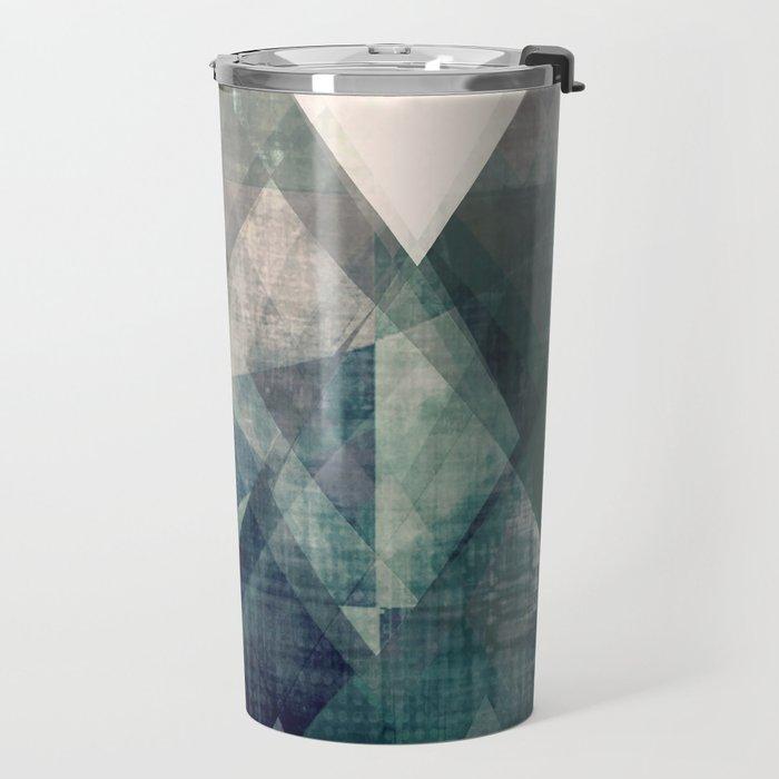 Mountains print, Abstract print, geometric wall art, abstract mountain, minimalist art, modern art, Travel Mug