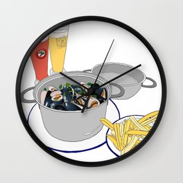 Mussels from Brussels Wall Clock