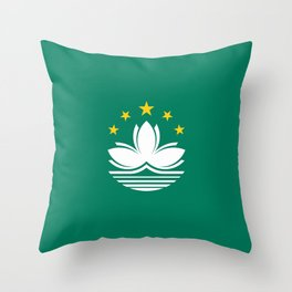 Flag of Macau Throw Pillow