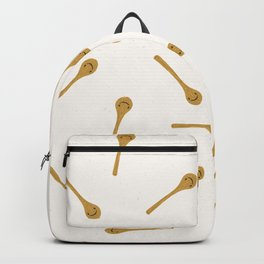 Cute wooden spoon kitchen utensil illustration. Backpack