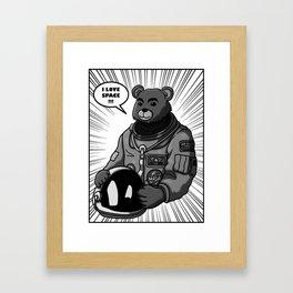 Space Bear Comic Framed Art Print