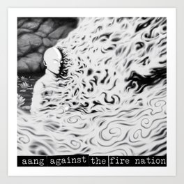 Aang Against the Fire Nation Art Print