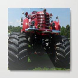 Monster Fire Truck Metal Print