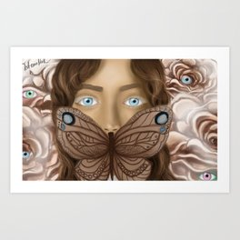 BUTTERFLY FACE Art Print
