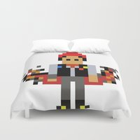 infamous Duvet Covers featuring Pixel Delsin Rowe (infamous) by 8 BITE
