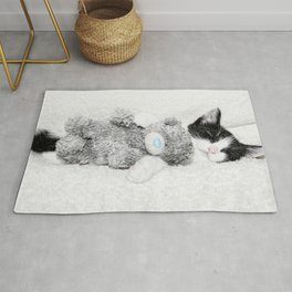 Kitten and teddy Rug