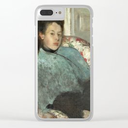 Portrait of Elena Carafa by Edgar Degas Clear iPhone Case