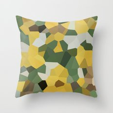 Crystal Moon Green Yellow Throw Pillow