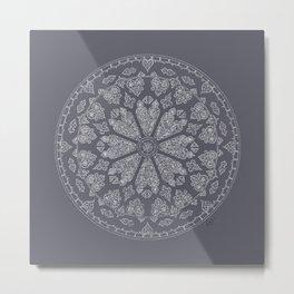 Ultimate Gray Rose Window Metal Print