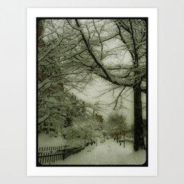 Never ending winter 2. Brookline, MA Art Print