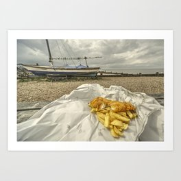 Chish n Fips  Art Print