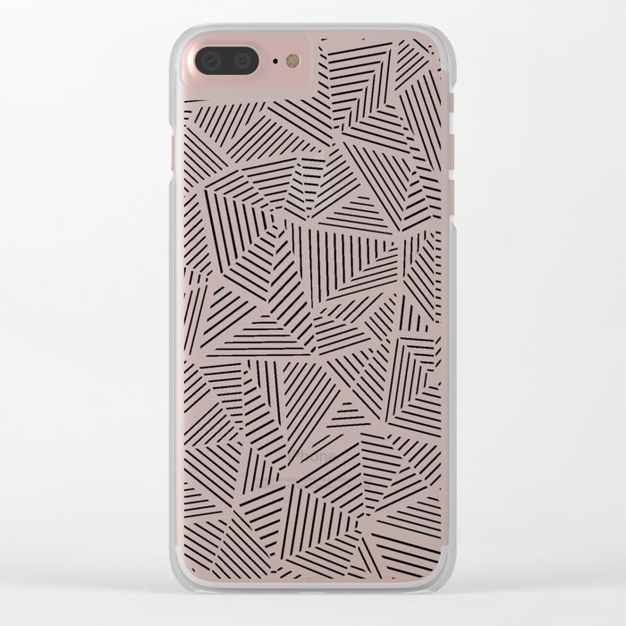 Abstraction Linear Inverted Clear iPhone Case