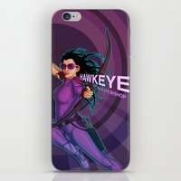 kate bishop iPhone & iPod Skins featuring Kate Bishop by Emily Doyle