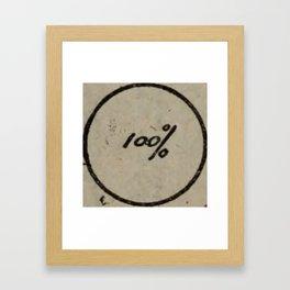 100% Framed Art Print
